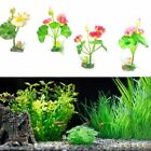 Plastic Frog Artificial Lotus Water Lily Fish Tank Decor Floating Flower