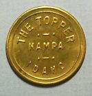 Nampa Idaho The Topper Good for 25c Trade Brass 26.5mm Token