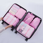 New 8 set Waterproof Compression Packing Cubes Large Travel Luggage Organizer