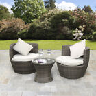 2 Seater Rattan Bistro Dining Table Set Egg Chair