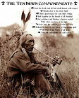 RED INDIANS (RED INDIAN TEN COMMANDMENTS) 01 PHOTO PRINT