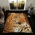 Luxury Super Soft Mink Fleece 3D Animal Faces Throw Blanket King Size 200x240