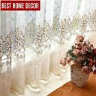 floral sheer tulle window curtains for living room the bedroom modern tulle curt