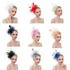 Women's Fascinators Flower Mesh Hats Cocktail Party Hat with Clips Ladies Day