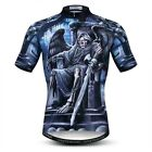Skull Printing Cycling Jersey For Men Breathale Clothing Racing Tops Quick-Dry