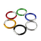 1.6/2/2.4 Inch Aluminum O Shaped Carabiner Spring Round Carabiners Clip Snap for