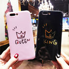 Crown Phone Letter KING QUEEN Back Cover Soft TPU Cases For iPhone X 8 7 6S Plus