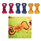 2Pcs Dogs Training Chewing Bone Type Dog Bite Tug Toy with One Strong Handles