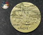 US Military Army AH-64 Apache Attack Helicoper Challenge Coin Collectible Badge