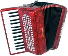 Scarlatti 24 BASS ACCORDION, Red. 30 treble keys, Good starter. From Hobgoblin