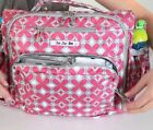 Rare~ JuJu Be Pink BFF~ Diaper Bag & Convertible Backpack Shoulder Strap Tote