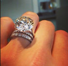 3.50Ct Round Cut Moissanite Engagement Bridal Ring In Solid White Gold
