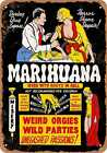 Metal Sign - 1936 Marijuana Weed With Roots in Hell - Vintage Look Reproduction