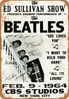 Metal Sign - 1964 Beatles on the Ed Sullivan Show - Vintage Look Reproduction