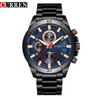 Curren 8275 Stainless Steel Quartz Watch Sports Leisure Waterproof Wristwatch US image
