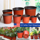 100Pcs Plastic Garden Nursery Pots Flower Pot Seedlings Planter Containers Set !