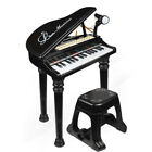3 Color Kids Electronic Keyboard 31 Key Piano Musical Toy w/ Microphone &