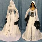 Women Halloween Cosplay Costume Lace Up Renaissance Dress Hooded Medieval Dress