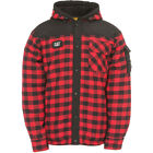 CATERPILLAR CAT 1610006 Sequoia red checked hooded shirt jacket size small-XXL