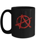 Punk Rock Red Anarchy A Mug - Black Coffee Cup - Funny Gift for Ancom, Communist