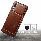 For Huawei Mate 20 Pro Nova 3e P20 Case Leather Card Slot Back Thin Stand Cover