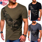 Mens Gym T-Shirt Bodybuilding Slim Cut Muscular Fitness Stringer Male Shirts Top image