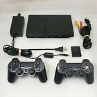 Sony PlayStation 2 PS2 Slim Console System GENUINE CONTROLLER  *RECONDITIONED*VG
