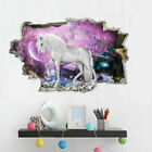 3d Unicorn Vinyl Wall Stickers Kids Living Room Nursery Decals Decor Chic Cute