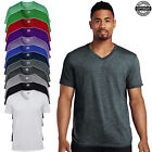 Gildan Men's Soft Style V-Neck T-Shirt Cotton Plain T shirt Casual Fashion Tee