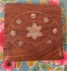 Vintage Wooden Box With Brass  Inlay Detail