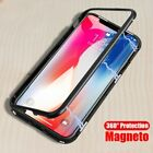 Magnetic Adsorption Phone Case For Iphone Xs Xr Tempered Glass Magnet Flip
