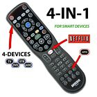 Anderic 4-Device Universal Remote Control for SMART TV, ROKU®, Audio & more