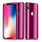 Bakeey Plating 360° Full Body Case+Tempered Glass Film For iPhone XR/XS/XS
