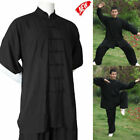 Cotton Shaolin Monk Robe Kung Fu Uniform Martial Art Wushu Tai Chi Suit Vintage