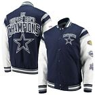 DALLAS COWBOYS NFL 5 TIME SUPERBOWL CHAMPION COMMEMORATIVE NAVY / WHITE JACKET $109.99 USD on eBay