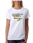 USA Made Bayside T-shirt Country Fall Church city village Town Autumn Scene