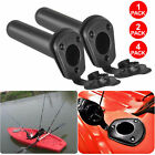 4X Plastic Flush Mount Fishing Boat Rod Holder and Cap Cover for Kayak Pole USA