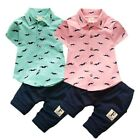 Kyпить Newborn Toddler Baby Boy Summer Gentleman Clothes Set Pants+Shirt Tops Outfits на еВаy.соm