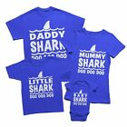 Baby Shark Doo Doo Kids T-shirts Daddy Mommy Grandpa Shark Family Matching Royal