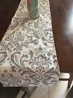 Внешний вид - White  and Grey Damask Table Runner Home Decor, Parties, Showers