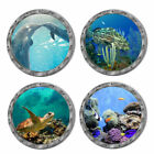 Tropical Fish Porthole Wall Sticker 3d Sea Ocean Wall Decal Kids Bathroom Decor