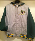 Oakland A's MENS NYLON VEST FLEECE JACKET with Hood - MLB Lic. by JH Design on Ebay