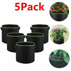 5 Pack Grow Bag Fabric Pots Root Pouch with Handles Planting Container 5 Gallon