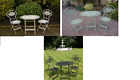 3 Piece Folding Garden Bistro Patio Furniture Set 1 Table & 2 Chairs Outdoor