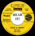Chad & Jeremy BRIT INV 45 (World Artists 1041) If I Loved You /Donna Donna  VG++