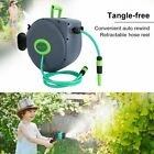 30m Auto Rewind Garden Water Hose Reel Retractable Wall Mounted Watering Pipe MI