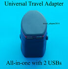Universal 2 USB Port Worldwide Travel AC Power Plug Charger Adapter for iPhone