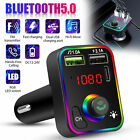 Bluetooth Wireless Car AUX Stereo Audio Receiver FM Radio Adapter USB Charger SD