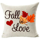 Soft Home Decor Fall In Love Safe Cotton Linen Pillow Covers Wedding Sofa Gift