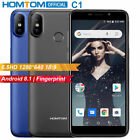 "5.5"" Homtom C1 Smartphone 5.5"" Quad-core 1+16gb 3000mah Fingerprint Mobile Phone"